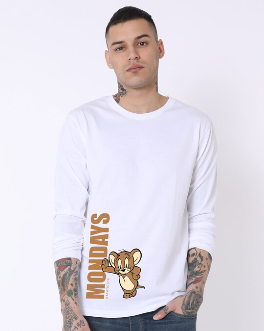 Shop Jerry Monday Full Sleeve T-Shirt ((TJL)-Front