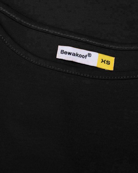 Shop Jet Black Basic Round Hem T-Shirt