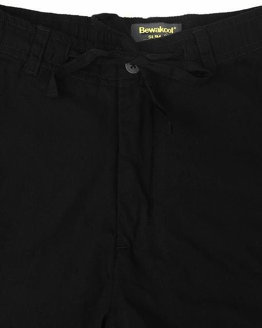 Shop Jet Black Casual Cotton Pants