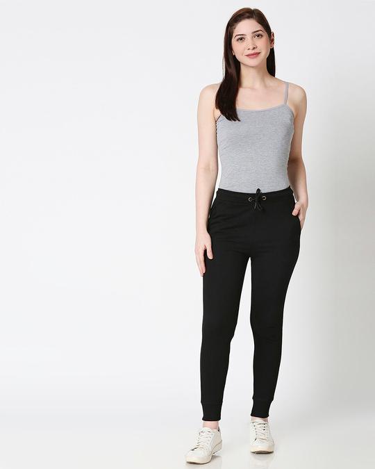Shop Jet Black Casual Jogger Pants