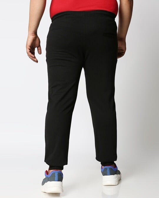Shop Jet Black Plus Size Casual Jogger Pants-Design