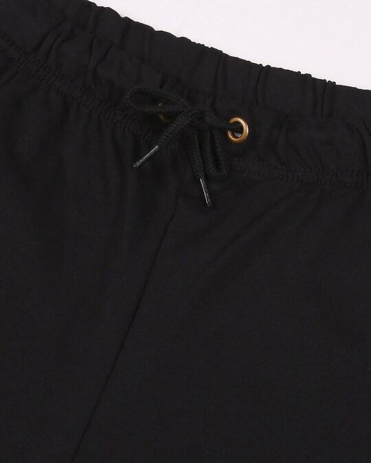 Shop Jet Black Plus Size Casual Jogger Pants