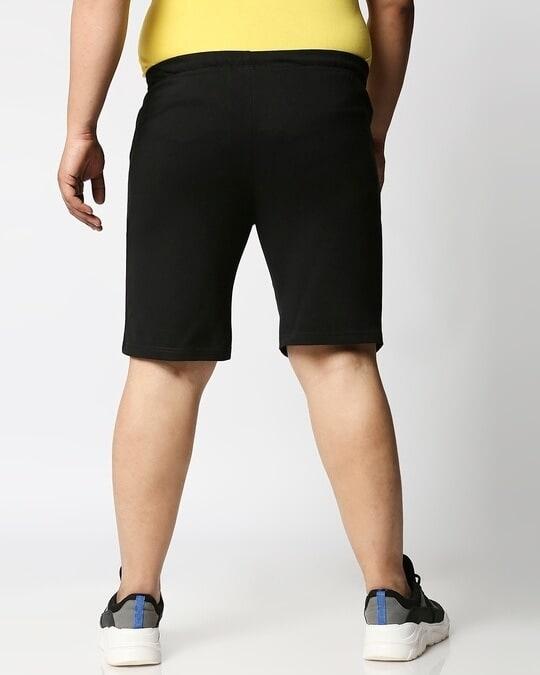 Shop Jet Black Plus Size Casual Shorts-Design