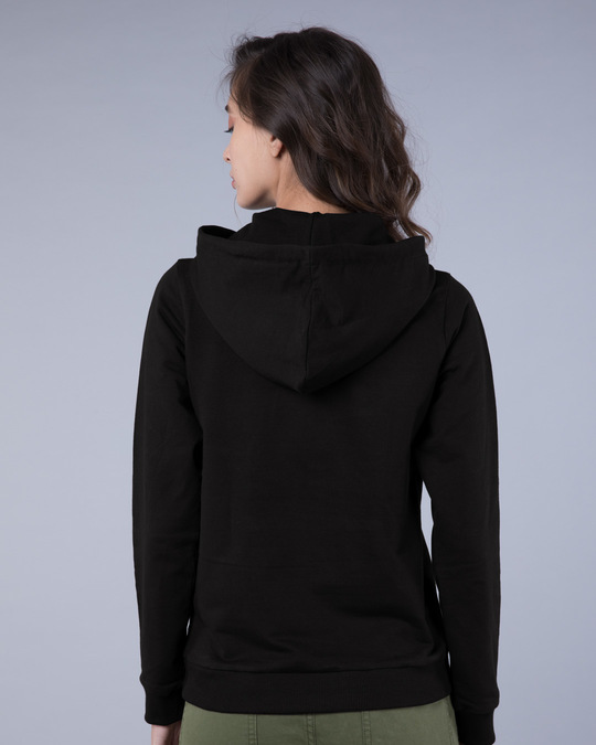 Shop Jet Black Fleece Hoodies-Full