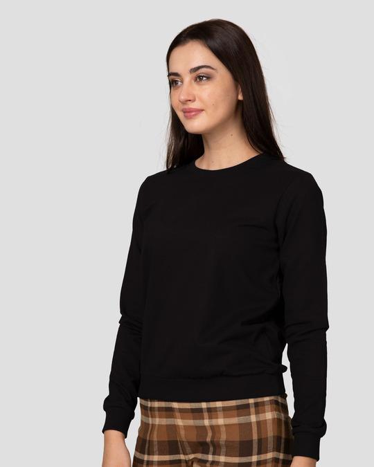 Shop Jet Black Fleece Light Sweatshirt-Design