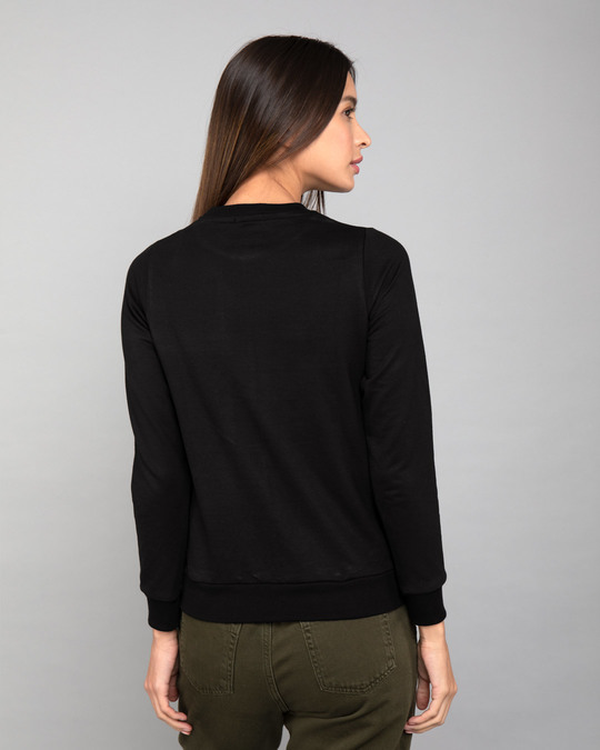 Shop Jet Black Fleece Sweater-Design
