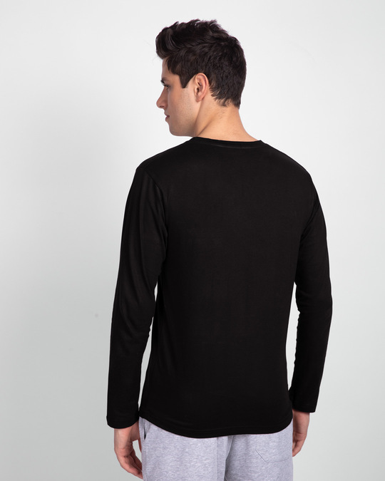 Shop Jet Black Full Sleeve T-Shirt-Full