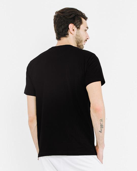 Shop Jet Black Half Sleeve T-Shirt-Full