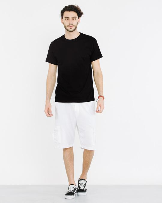 Shop Jet Black Half Sleeve T-Shirt