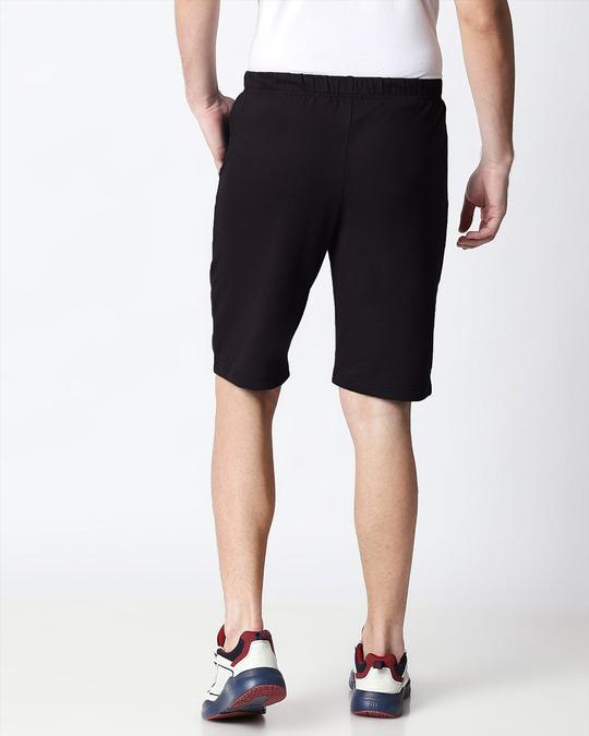 Shop Jet Black Men's Casual Shorts-Design