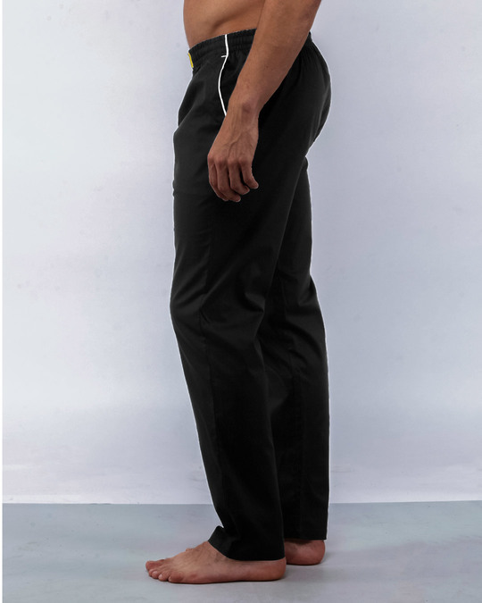 Shop Jet Black Plain Pyjama-Back