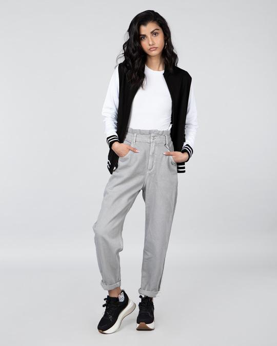 Shop Jet Black Plain Varsity Plain Jacket