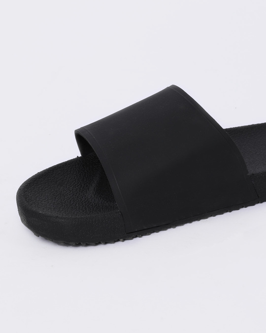 Shop Women Jet Black Sliders-Full