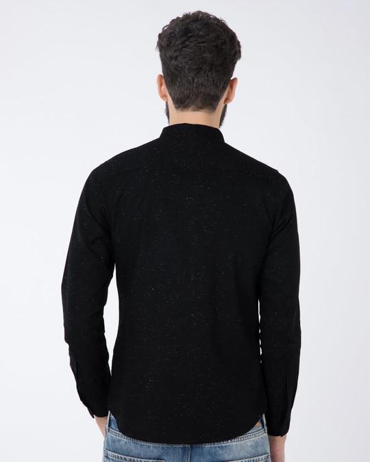 Shop Jet Black Neps Slim Fit Full Sleeve Shirt-Design