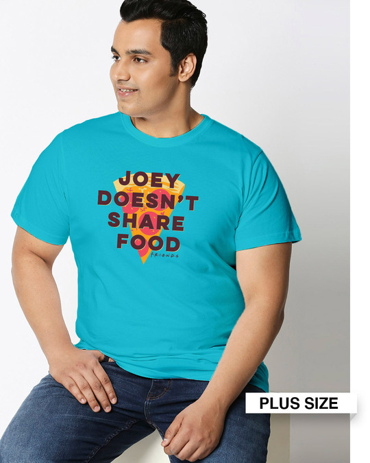 Shop Joey Doesn't Share Half Sleeves Printed Plus Size T-Shirt(FRL)-Front
