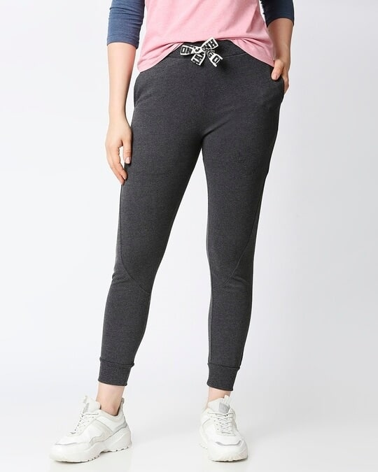 Shop JOGGERS WITH PRINTED TAPE-Front