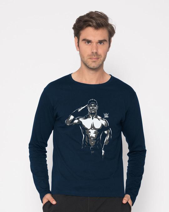 Shop John Cena Illustration Full Sleeve T-Shirt (WWEL)-Front