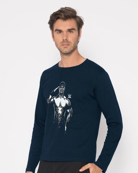 Shop John Cena Illustration Full Sleeve T-Shirt (WWEL)-Back