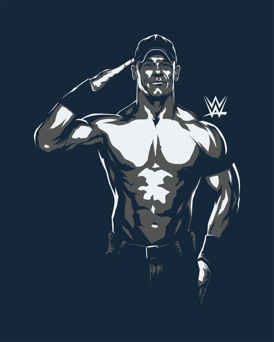 Shop John Cena Illustration Full Sleeve T-Shirt (WWEL)