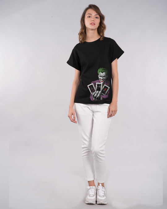 Shop Joker Cards Boyfriend T-Shirt (BML)-Full