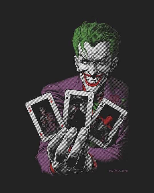 Shop Joker Cards Full Sleeve T-Shirt (BML)