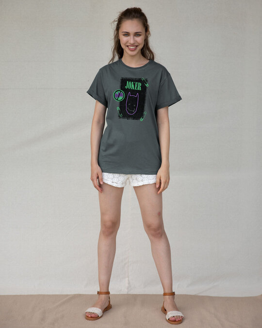 Shop Joker Cloth Clip Boyfriend T-Shirt (BML)-Full