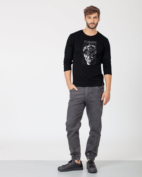 Shop Joker Stare Full Sleeve T-Shirt (BML) (GID)-Full