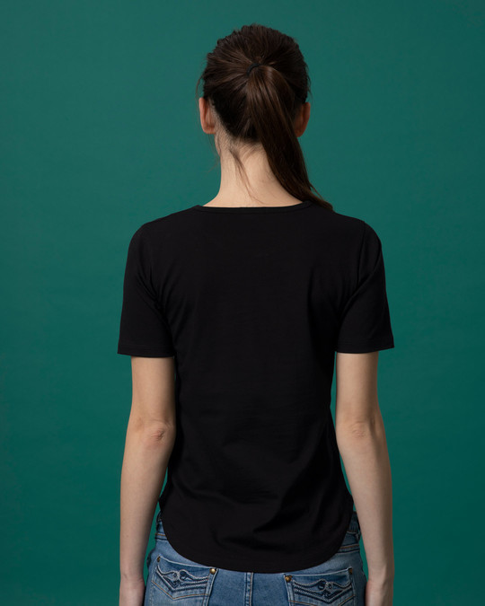 Shop Jolkhabar Basic Round Hem T-Shirt-Full