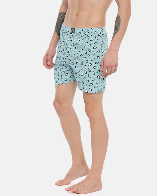 Shop Joven | Emperor Penguin Blue Printed Boxers-Back