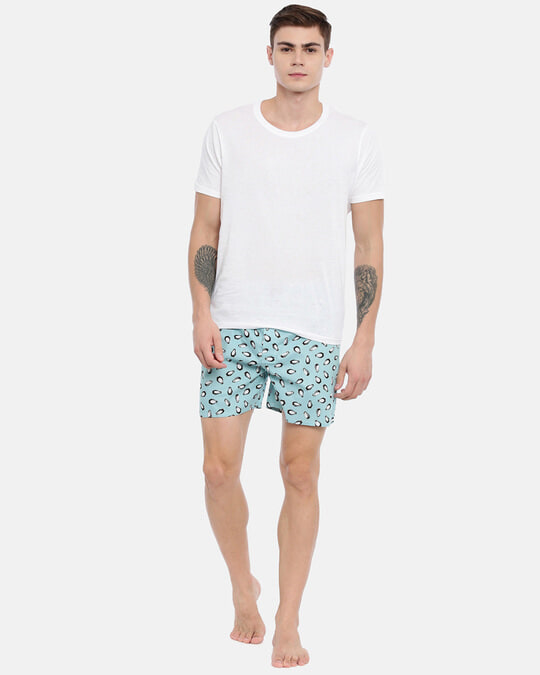 Shop Joven | Emperor Penguin Blue Printed Boxers-Full
