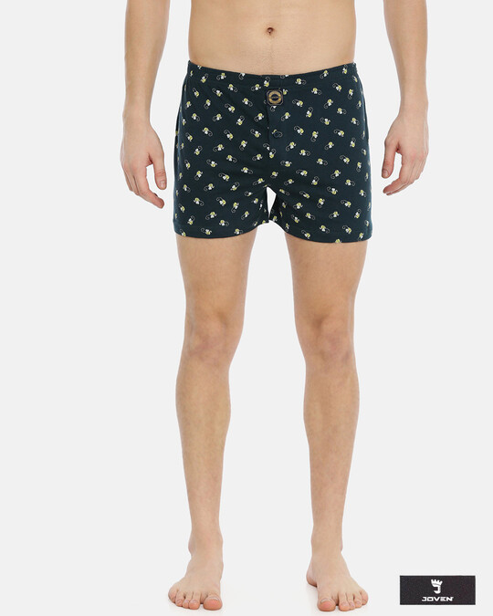 Shop Joven | Honey Bee Navy Knitted Boxers-Front