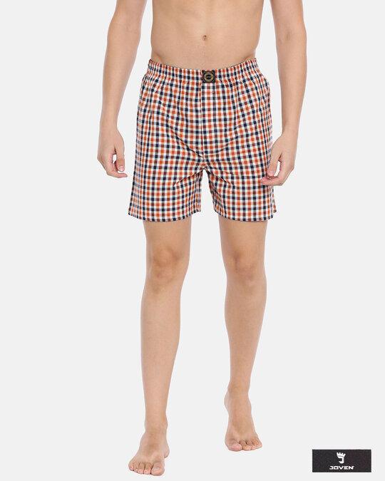 Shop Joven   Multicolor Checked Boxers-Front
