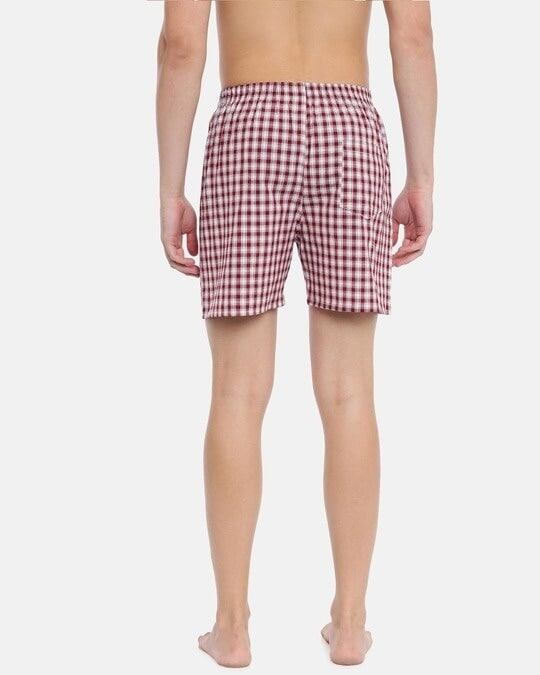 Shop Joven | Red and White Checked Boxers-Design