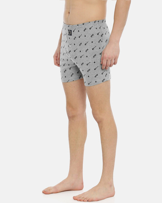 Shop Joven   Wannabe Rockstar Grey Knitted Boxers-Back