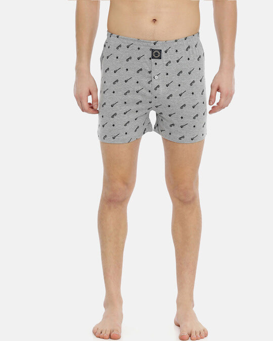 Shop Joven   Wannabe Rockstar Grey Knitted Boxers-Full