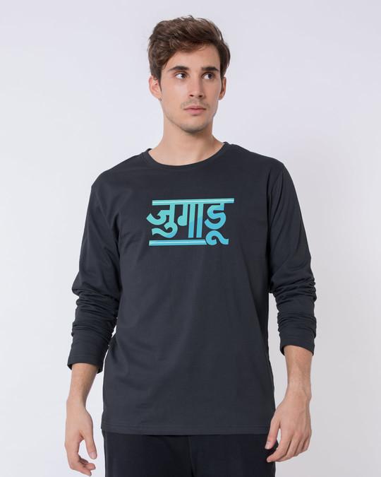 Shop Jugaadu Hindi Full Sleeve T-Shirt-Front