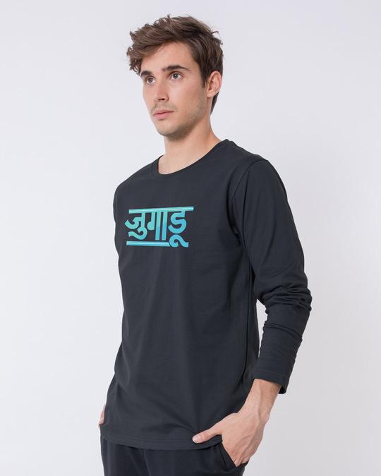 Shop Jugaadu Hindi Full Sleeve T-Shirt-Back