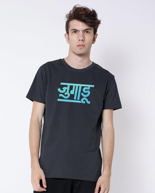 Shop Jugaadu Hindi Half Sleeve T-Shirt-Back