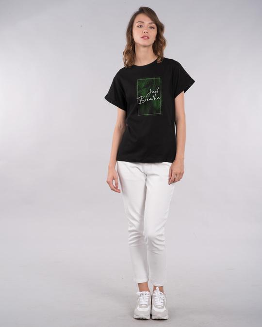 Shop Just Breathe Boyfriend T-Shirt-Design