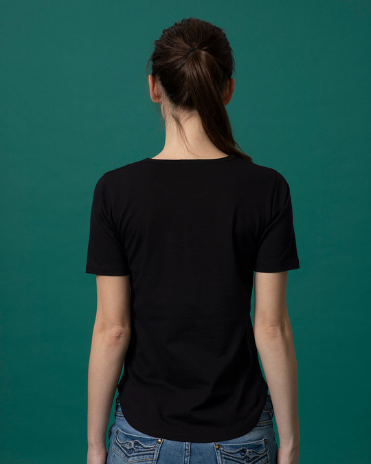 Shop Just Buffering Basic Round Hem T-Shirt-Full