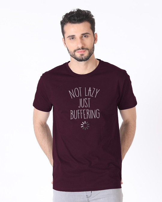 Shop Just Buffering Half Sleeve T-Shirt-Back