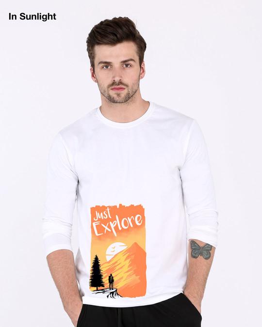 Shop Just Explore Full Sleeve (Sun Active T-Shirt)-Design
