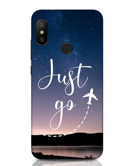 Shop Just Go Xiaomi Redmi Note 6 Pro Mobile Cover-Front