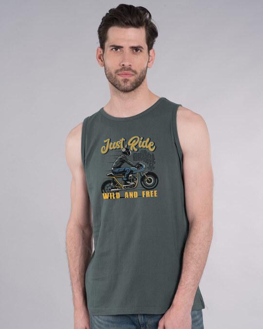 Shop Just Ride Cafe Racer Vest-Front