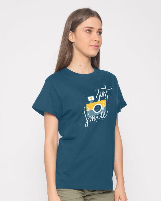 Shop Just Smile Boyfriend T-Shirt-Back