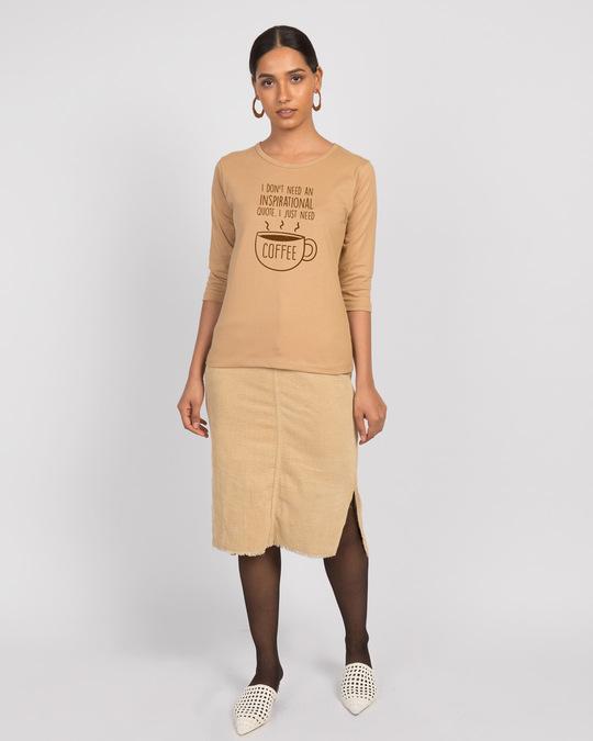 Shop Justneedcoffee Round Neck 3/4th Sleeve T-Shirt-Design