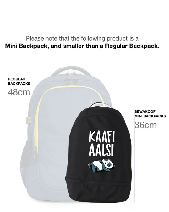 Shop Kaafi Aalsi Small Backpack-Back