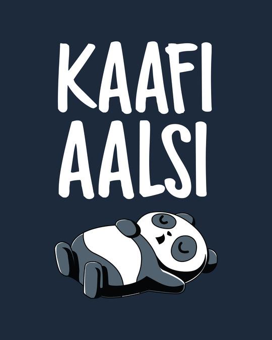 Shop Kaafi Aalsi Half Sleeve T-Shirt Navy Blue-Full