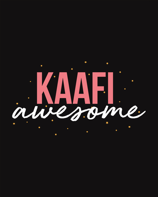 Shop Kaafi Awesome Scoop Neck Full Sleeve T-Shirt-Full