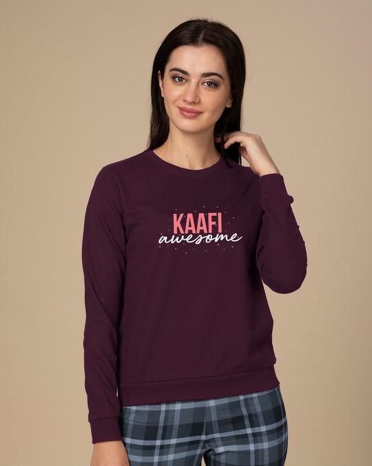Shop Kaafi Awesome  Sweatshirt-Front